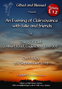 P & E Club Evening of Clairvoyance Poster
